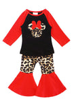Leopard minnie red bell pants set CXCKTZ-504051