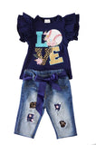 Love baseball jeans set 504140