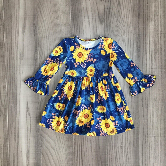 Blue Sunflower Watercolors Dress [NEW!]