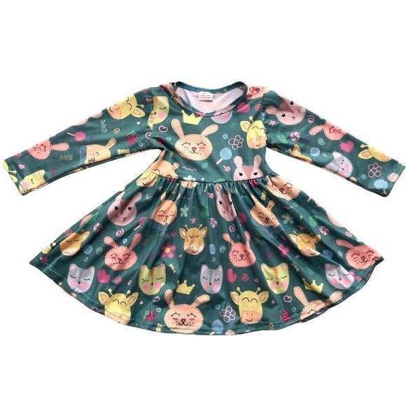 ComfyCute Twirl Dress - Cozy Farm Friends