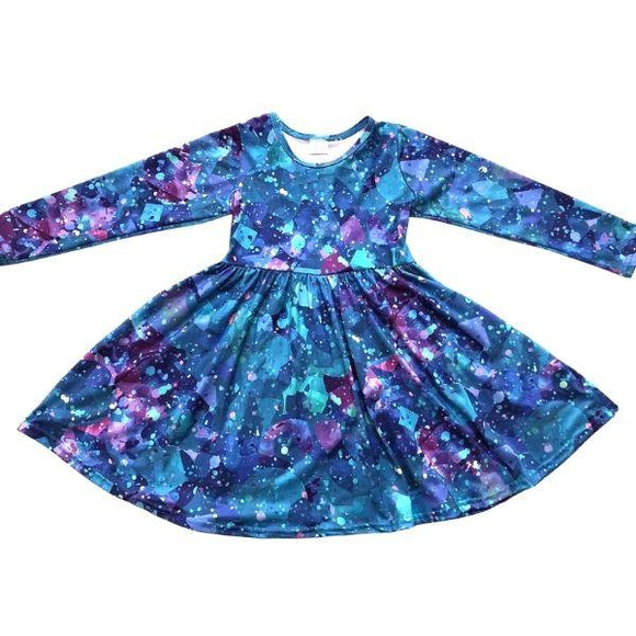 ComfyCute Twirl Dress - Jewel-Toned Spatter