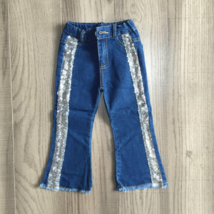 Denim Jeans with Sequin Detail [PREORDER]