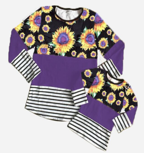 Psychadelic Sunflower Stripes Tee [PREORDER]