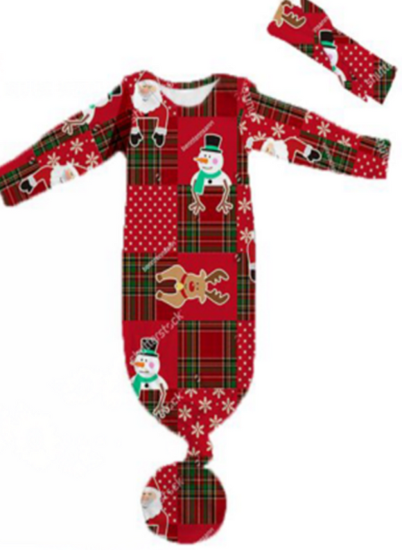 Red Patchwork Holiday Gown [PREORDER]