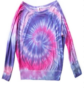 Off The Shoulder Tie Dye Shirt[PREORDER]