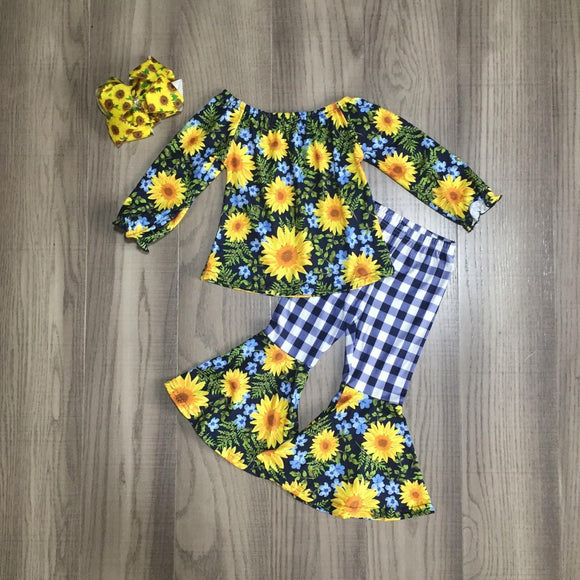 MONDAY SPECIAL #38 - Sunflower Blues Bell Bottoms Outfit