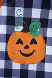 Orange pumpkin applique icing raglan shirt CXSY-012193