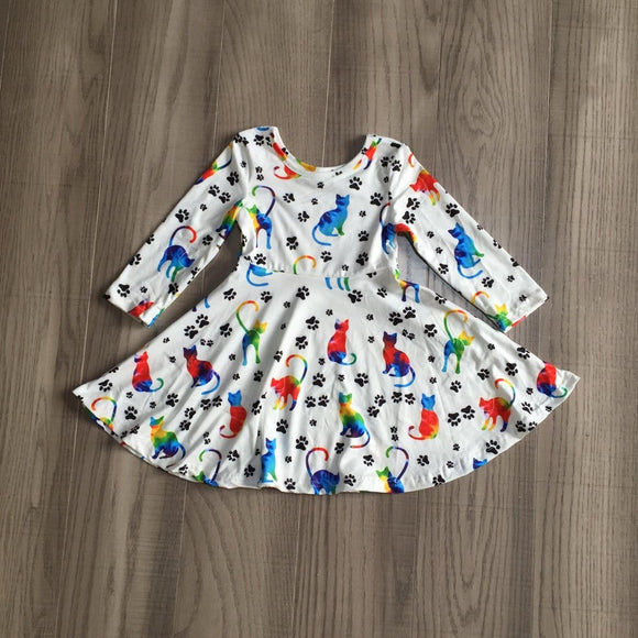 Watercolor Cats Dress