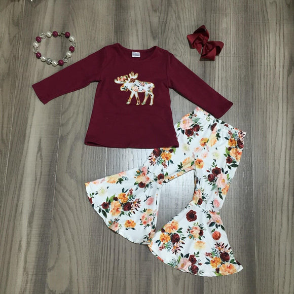 Floral Moose Bell Bottoms Outfit [NEW!]
