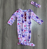 Fletcher Lane: Kitty Baby Gown with hairband [PREORDER]