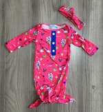 Fletcher Lane: Penelope the Mermaid Baby Gown with hairband [PREORDER]