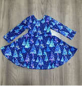 Shades of Blue Tree Dress [PREORDER]