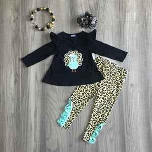 Mint and Leopard Turkey Friend Outfit