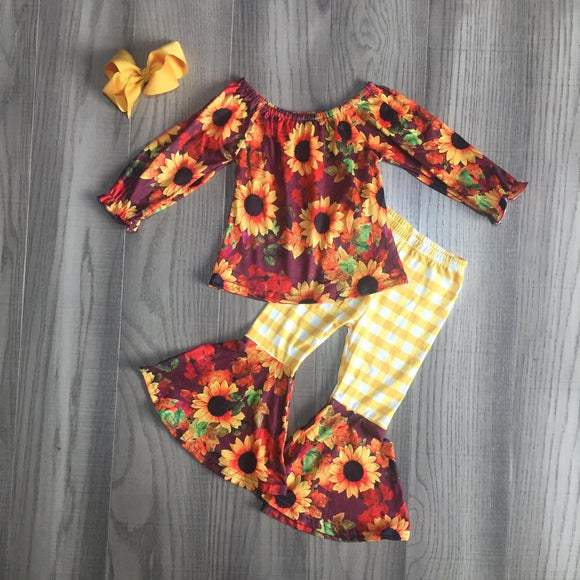 MONDAY SPECIAL #37 - Sunflower Bliss Bell Bottoms Outfit