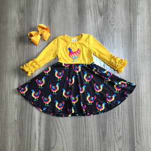 Tie Dye Rooster Dress [NEW!]