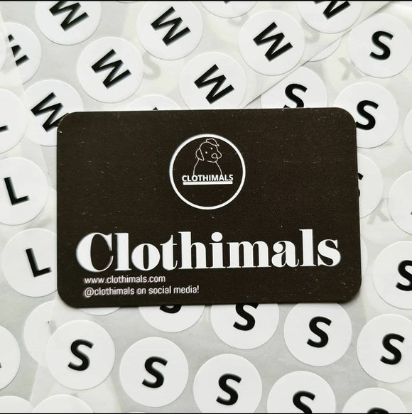 Clothimals Gift Card