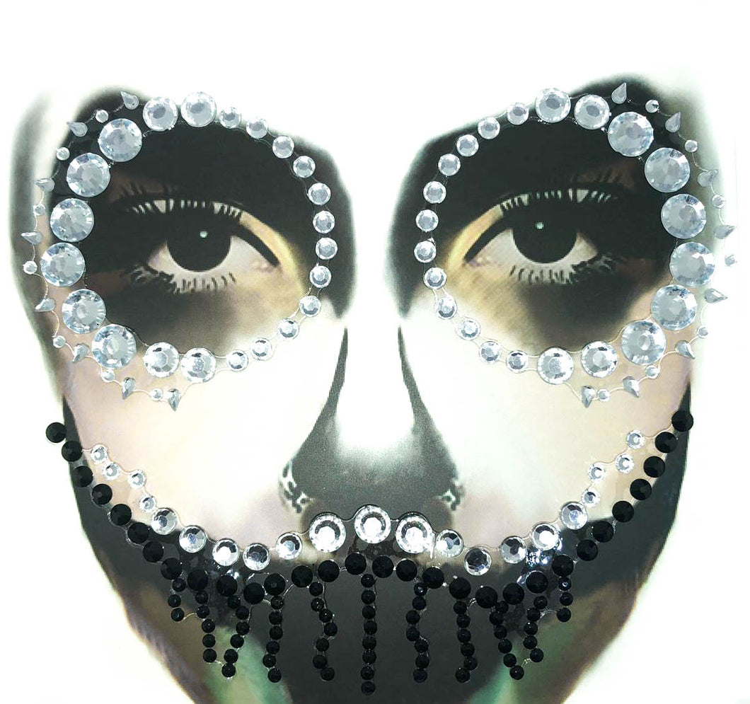 Halloween make-up Glitter Skull Pearl