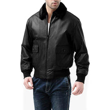 Load image into Gallery viewer, G-1 Leather Flight Bomber Jacket