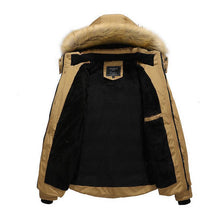 Load image into Gallery viewer, Manswears Down Coat Outdoor Warm Winter Thick Faux Fur Outwear