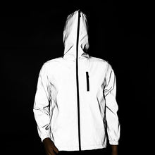 Load image into Gallery viewer, Streetwear men's reflective jacket windbreaker casual hip hop Hooded coats