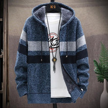 Load image into Gallery viewer, Men's Knitted thicken Hood Sweater Casual Keep warm Cardigan
