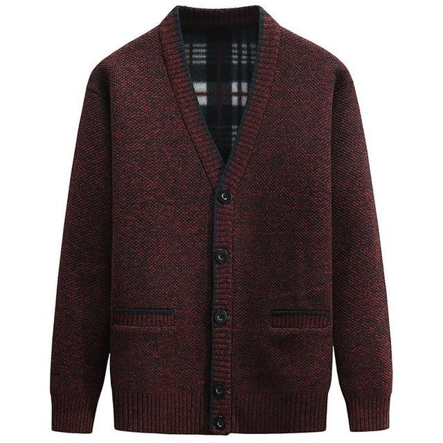 Men Autumn Winter Cardigan Thick Warm Knitted Sweater