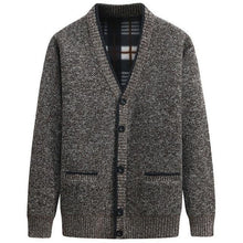 Load image into Gallery viewer, Men Autumn Winter Cardigan Thick Warm Knitted Sweater