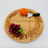 Custom Engraved Cheese Board 35cm Diameter