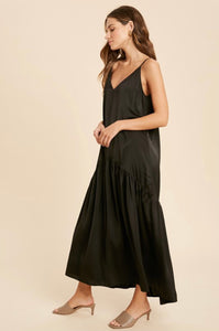 Midnight Silk Holiday Dress