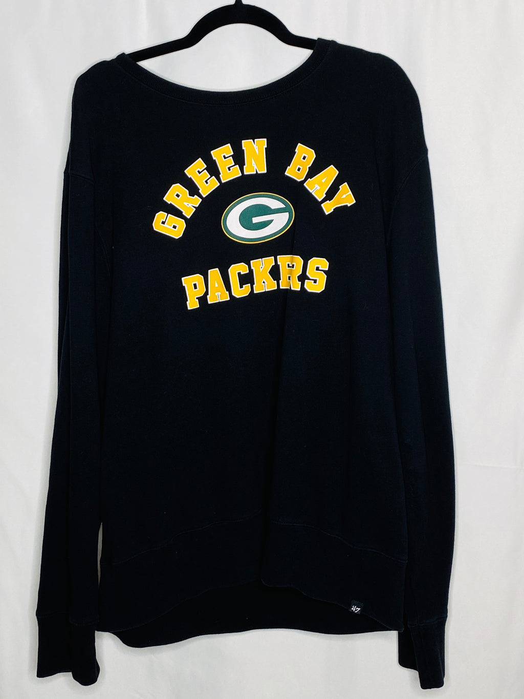 black green bay packers womens crewneck
