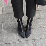 Ankle Martin boots with zipper