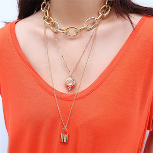 Thick Chain Layered  Necklace