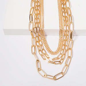 Chunky Chain Big Choker Necklace