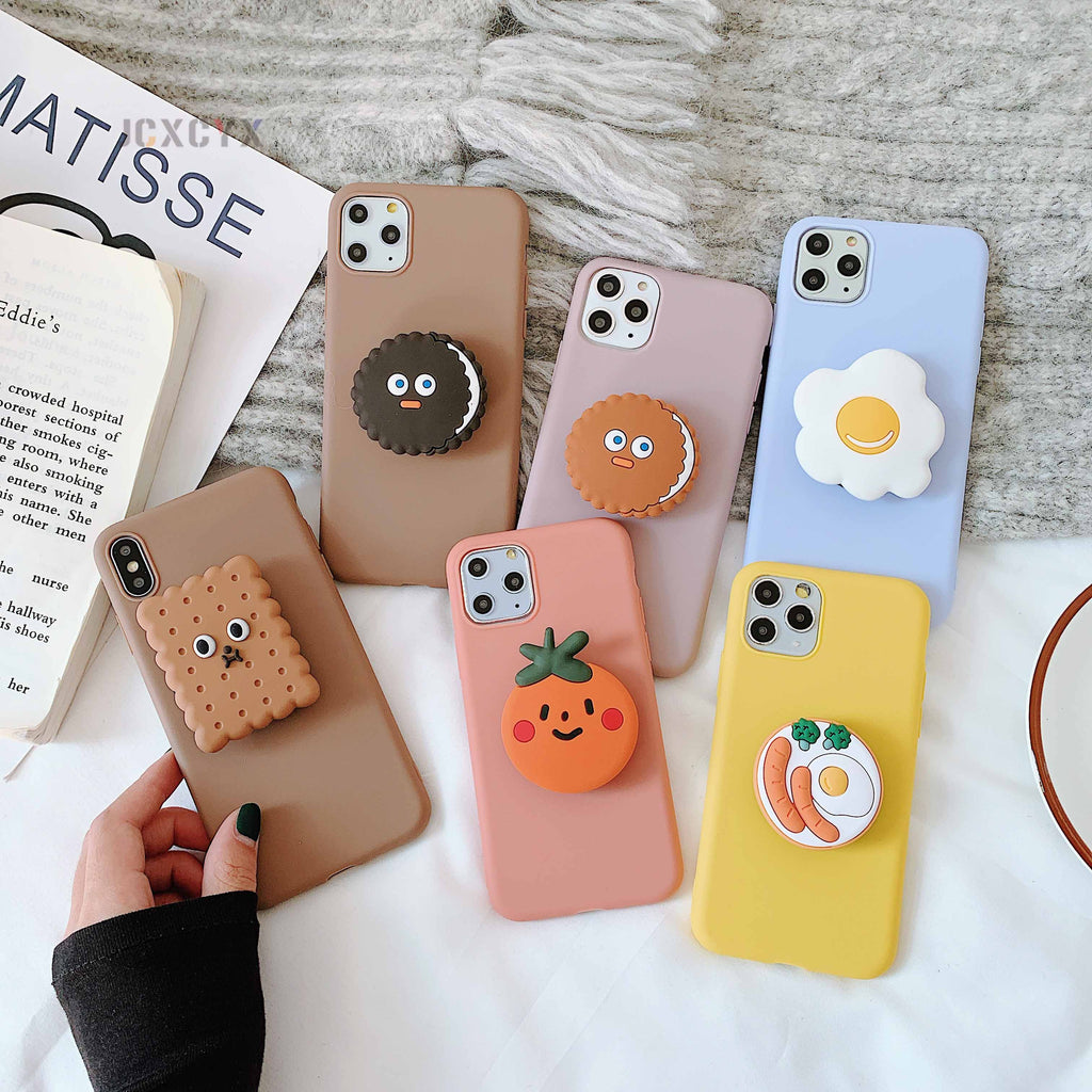 3D Cartoon Oreo Cookies Soft phone case for iphone and Samsung