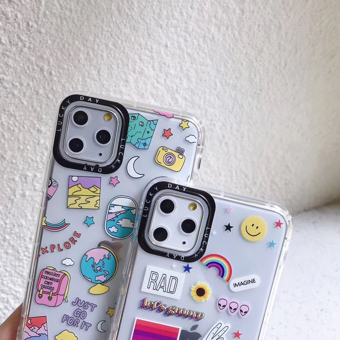 Cute Doodled Iphone Case