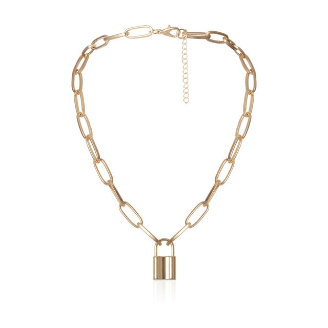 Layer Love Lock Pendant Necklace