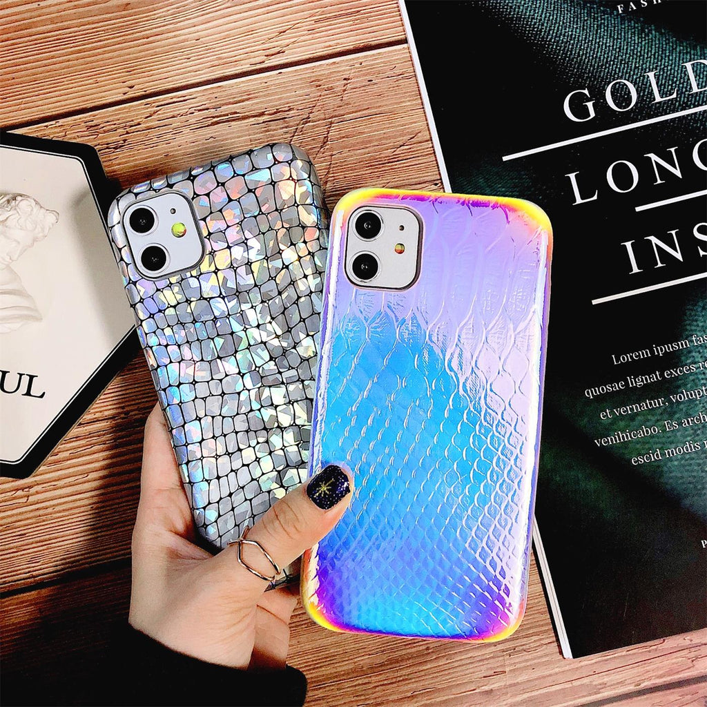 holographic Faux leather Phone Case