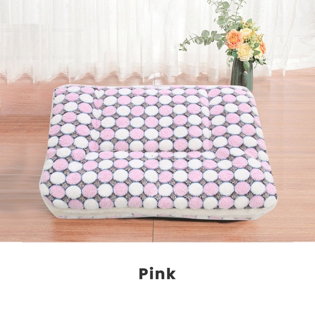 Thickened Pet Soft Fleece Pad Blanket Bed Cushion Home Washable Rug Keep Warm #1