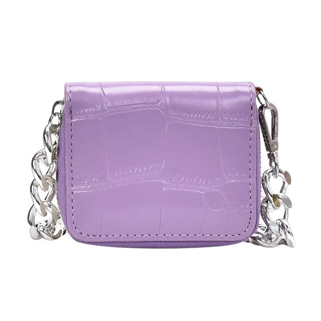Mini Small Square Lilac Cross body purse