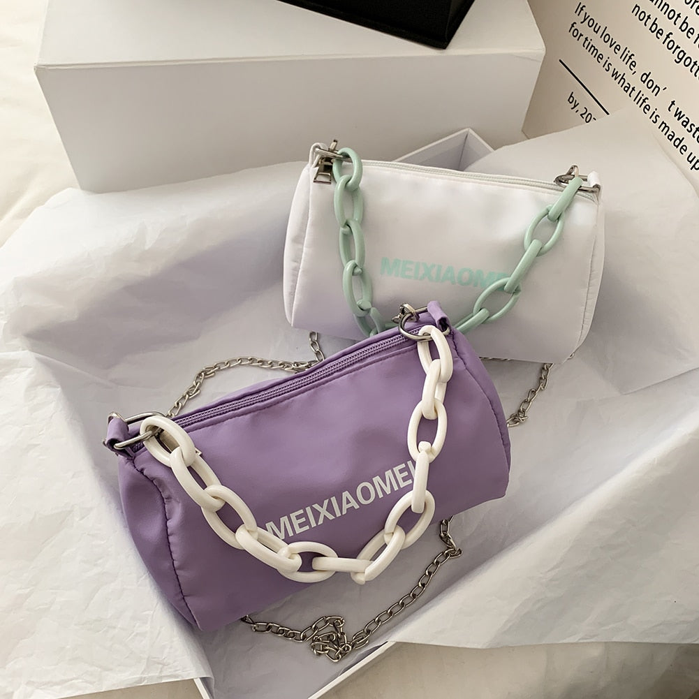 Acrylic Chain Shoulder Bag