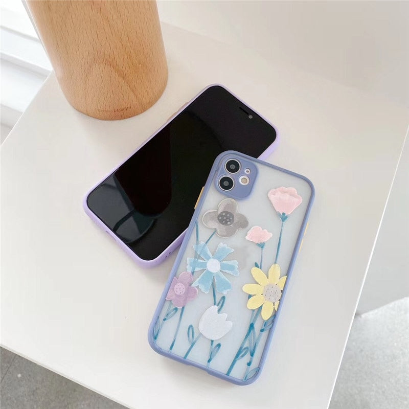 Retro Art Flowers Phone Case