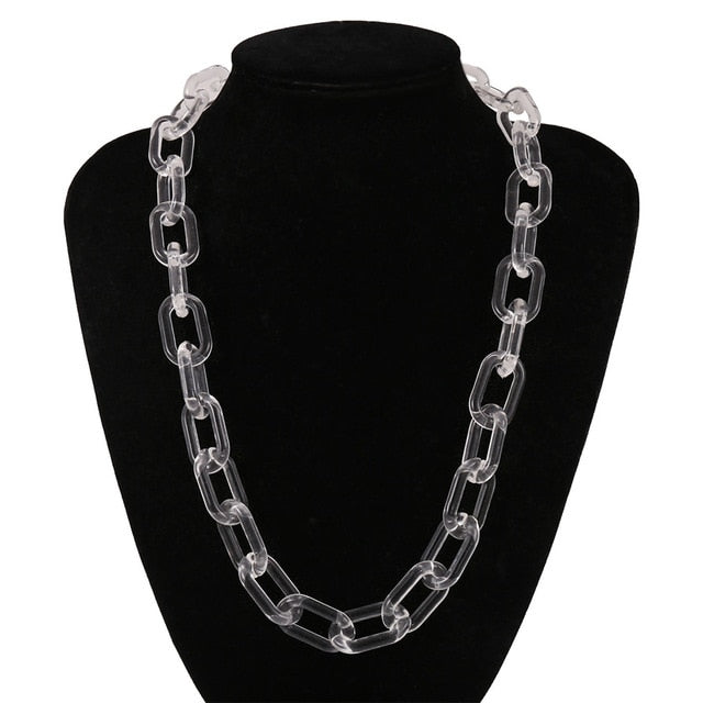 Acrylic Long thic Chain Necklace