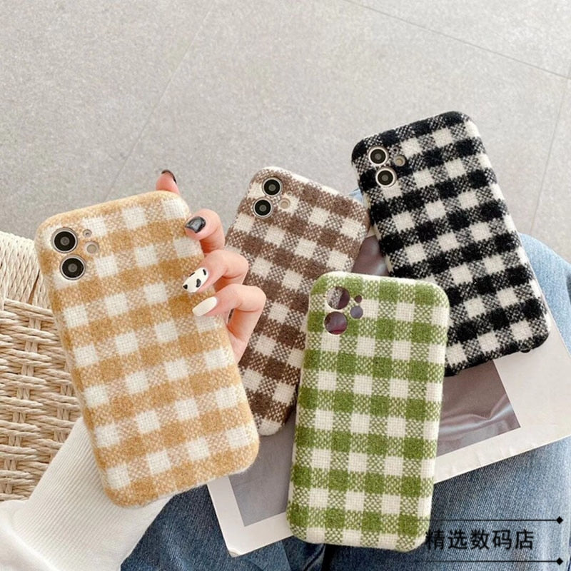 Vintage Stripe Lattice Phone Case