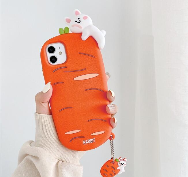 cartoon rabbit shockproof silicone cover/ case
