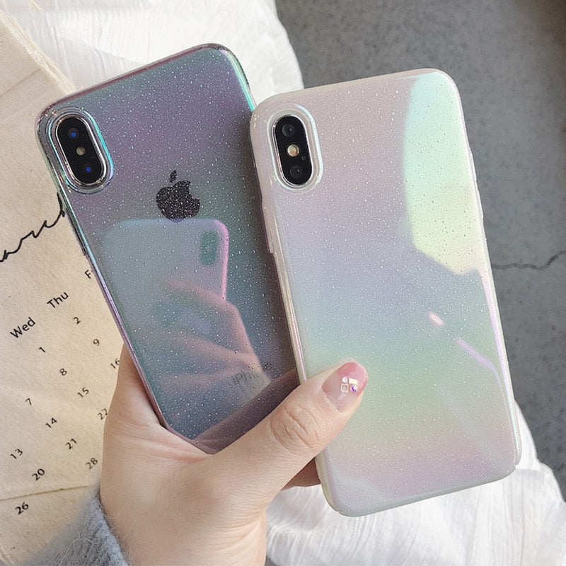Rainbow Gradient Laser Phone Case
