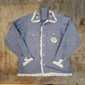 70's Ornate Chambray Shirt