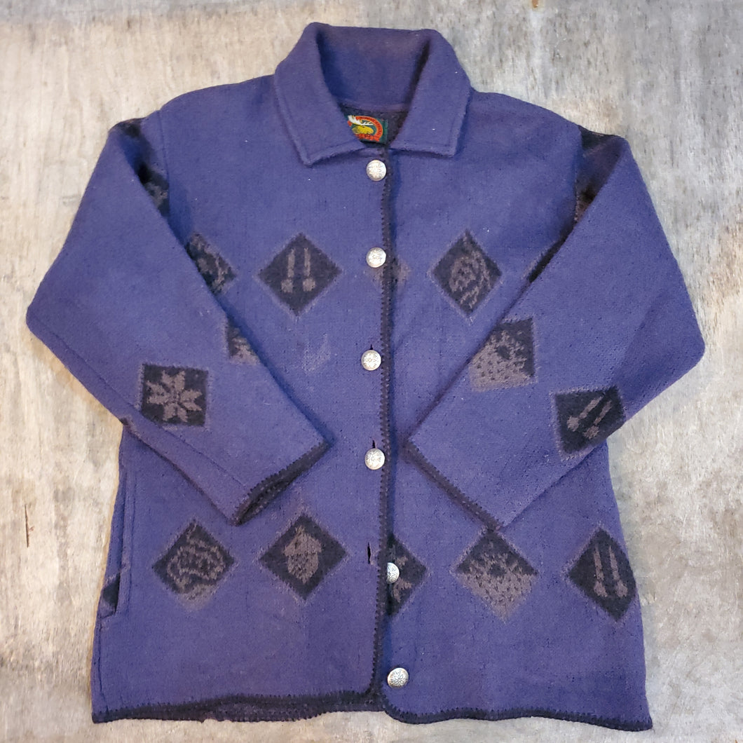 80's Alps Patterned Wool Jacket