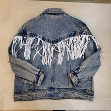 Load image into Gallery viewer, Fringe Acid Denim Jacket