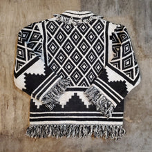 Load image into Gallery viewer, Black & White Knit Jacket