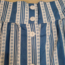 Load image into Gallery viewer, Blue & White Striped Skirt